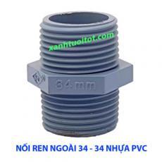 Nối ren ngoài 34 - 34 nhựa PVC