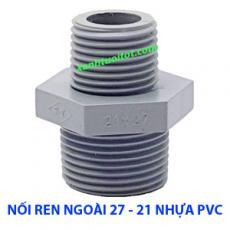 Nối ren ngoài 27 - 21 nhựa PVC