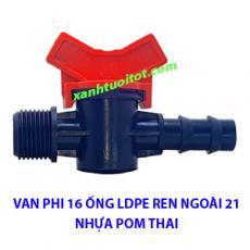 Van phi 16 ống LDPE RN 21