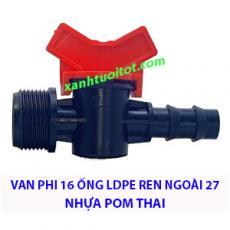 Van phi 16 ống LDPE RN 27