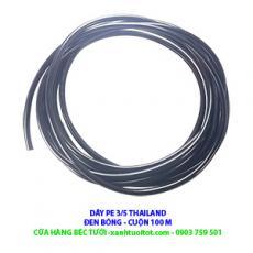 Dây PE 3/5 đen bóng dùng trong hệ thống tưới tiết kiệm - Sản xuất tại THAILAND