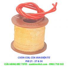 Cuộn coil dùng cho van điện từ 21, 27 và 34