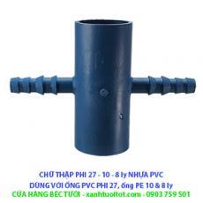 Chữ thập 27 - 8 ly và 10ly PVC (màu xám)