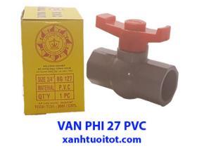 Van nước phi 27 PVC