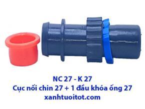 NC 27 - K 27 Cục nối khóa 27 + 1 đầu khóa ống 27
