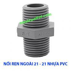 Nối ren ngoài 21 - 21 nhựa PVC