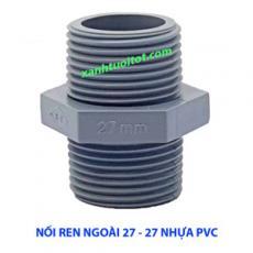 Nối ren ngoài 27 - 27 nhựa PVC