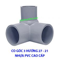 Co góc 3 hướng phi 27 - 21 PVC