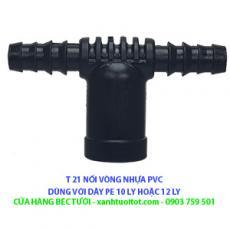 T 21 PVC nối vòng dây PE 10 & 12 ly